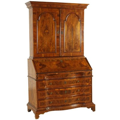 Neoclassical Drop-Leaf Chest of Drawers Walnut Olive Late 1700s Antiques Drop-Leaf Secretaire
