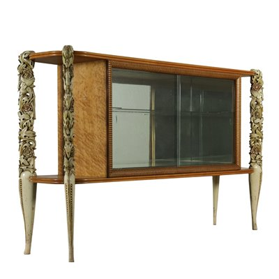 Display Cabinet Burl Veneer Glass Vintage Italy 1950s Vintage Modernism Other Furnishing