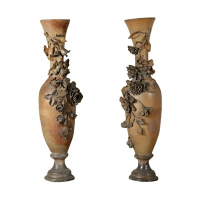 Pair of Large Liberty Amphorae Italy Early 1900s Antiques Vases