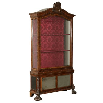 Elegant Glass Cabinet with Inlays Holland Early 1800s Antiques Showcases