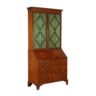 Bureau Bookcase with Drop-leaf Italy Mid 1800s Antiques Secretaire