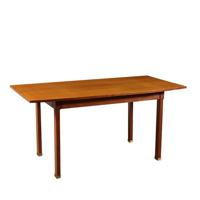 Table Stained Beech Mahogany Veneer Vintage Italy 1960s Vintage Modernism Tables