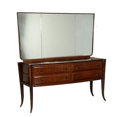Chest of Drawers with Mirror Vintage Italy 1950s Vintage Modernism Buffets