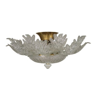 Glass Chandelier Barovier & Toso Vintage Italy 1970s Vintage Modernism Ceiling Lamp