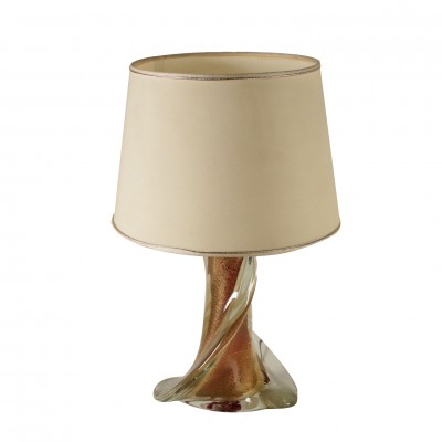 Table Lamp Torchon Glass Vintage Murano Italy 20th Century Vintage Modernism Fancy Goods