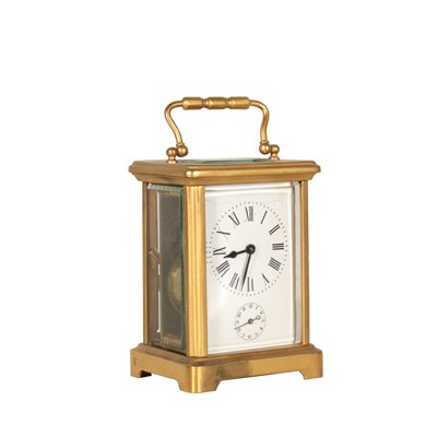 Carriage Clock Gilded Bronze Glass 19th Century Antiques Clocks