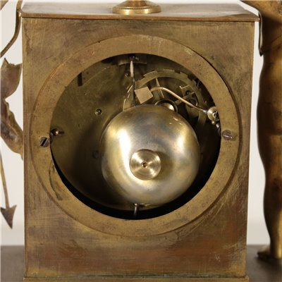 Charles X Table Clock Gilded Bronze France 19th Century Antiques Clocks