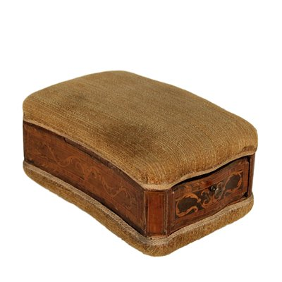 Neoclassical Sewing Box Wood Fabric Italy 18th Century Antiques Boxes