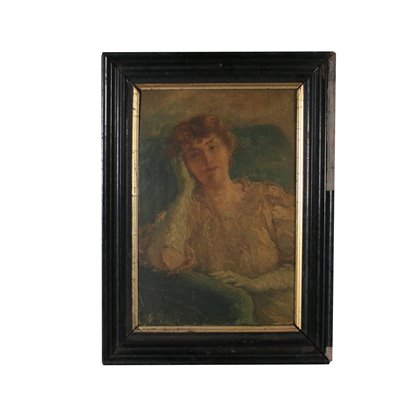 Portrait of Woman Oil Painting on Canvas 20th Century Art 20th Century