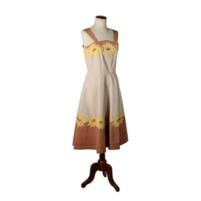 Vintage Dress with Flower Inserts 1960s Vintage Modernism Vintage Clothing