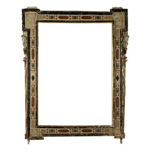 Large Lacquered Frame Italy 17th-18th Century Antiques Mirrors & Frames