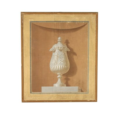 Neoclassical Decorative Element Painting 18th Century Art Antique Painting