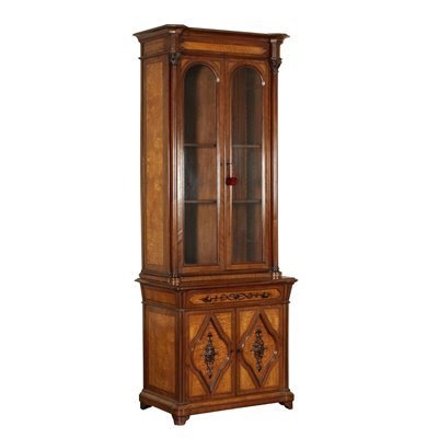 Neo Gothic Bookcase Mahogany Italy Mid 1800s Antiques Bookcases