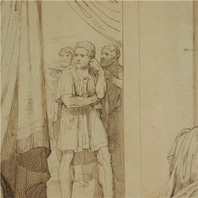 Drawing by Raffaele Postiglione Leaving for War 19th Century Art 19th Century