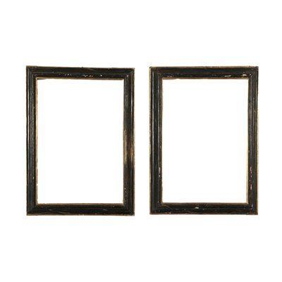 Pair of Frames Lime Wood Italy 17th Century Antiques Mirrors & Frames
