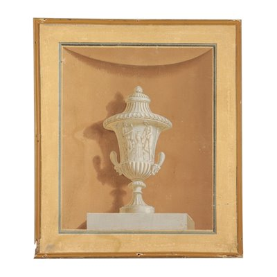 Neoclassical Decorative Element 18th Century Art Antique Painting