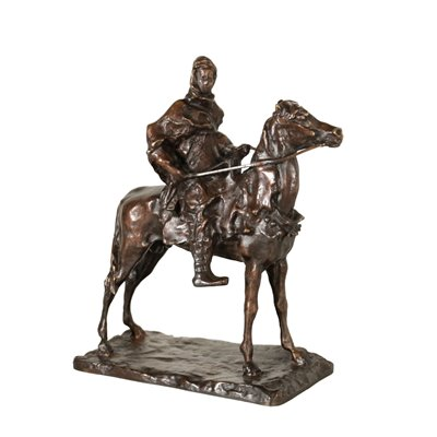 Berber on Horseback by Paul Troubetzkoy Bronze Sculpture 20th Century Antiques Bronzes