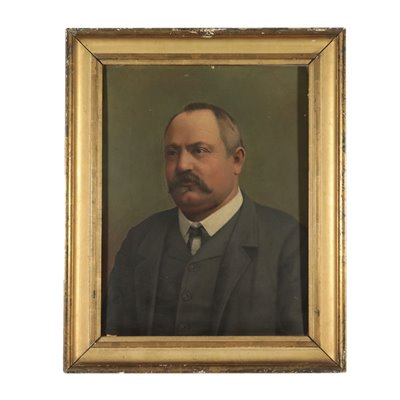 Portrait of a Man Painting Late 19th Century