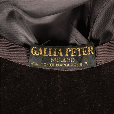 Vintage Hat by Gallia and Peter Velvet Satin Italy Milan