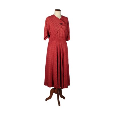 Vintage Summer Red Dress manufactured in Italy 1930s