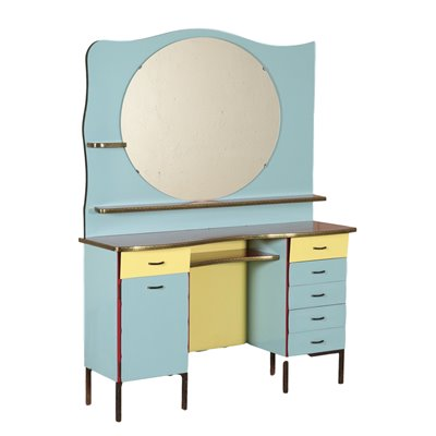 Vintage Barber Dressing Table Formica Italy 1960's