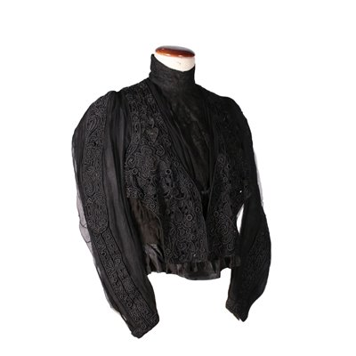Vintage Chiffon Bolero with Embroidery Second Half 19th Century