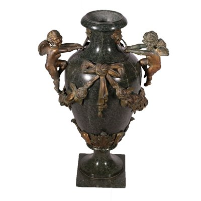 Marble and Bronze Vase Italy 19th Century