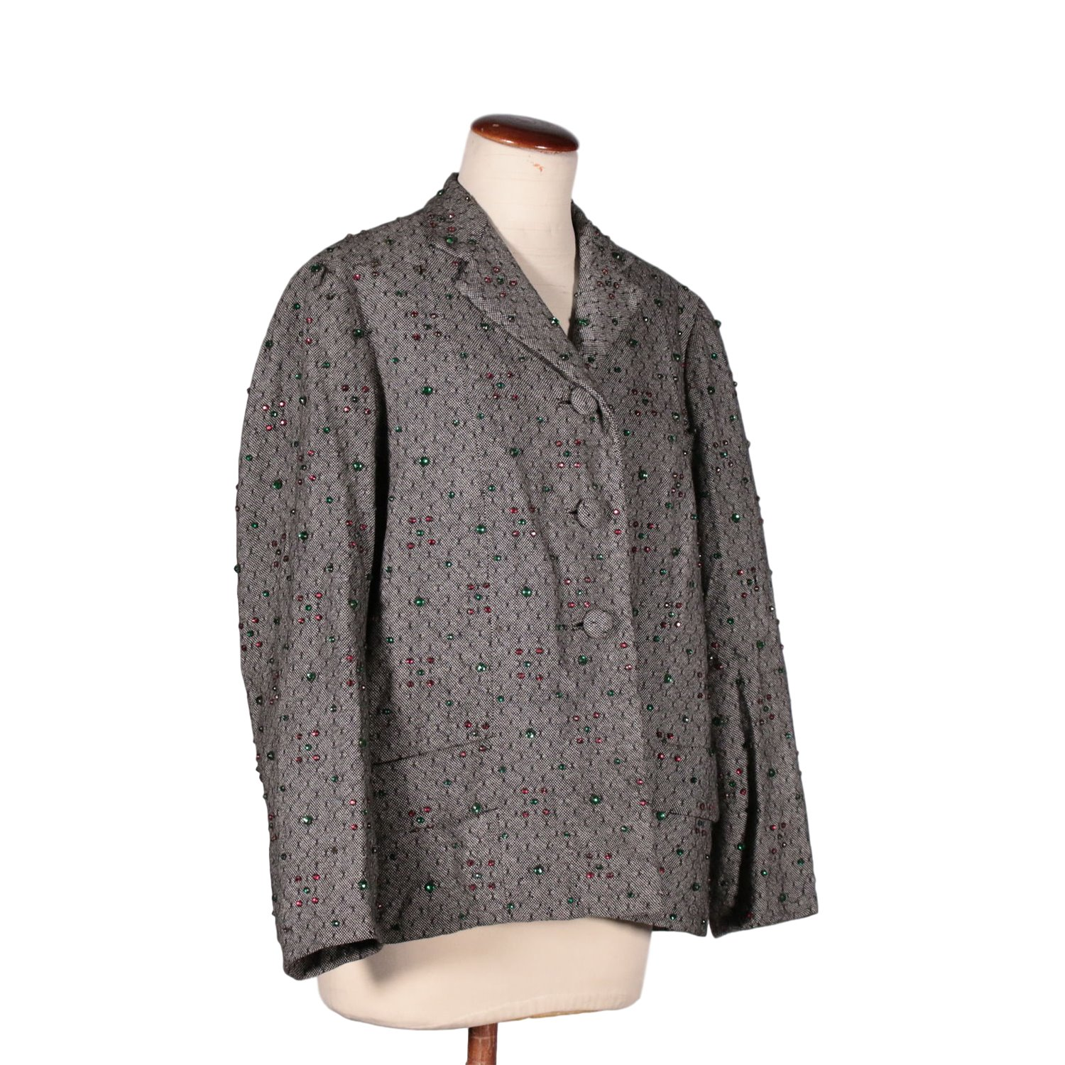 Vintage Wool Jacket With Beads 1950's-1960's