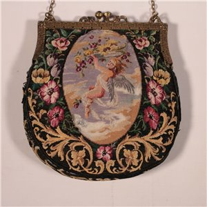 Vintage Embroidered Purse Early 20th Century