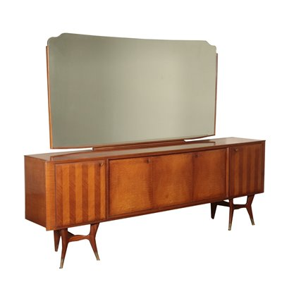 Vintage Cupboard With Mirror Italy 1950's