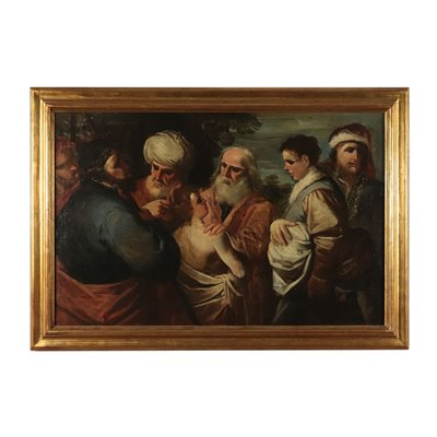 Joseph Sold by His Brothers Oil on Canvas Italy 18th Century
