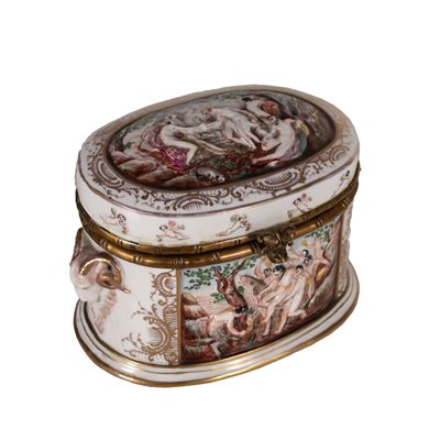 Capodimonte Jewel Box Porcelain Italy 20th Century