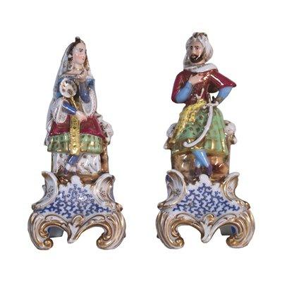 Pair of Perfume Holder Porcelain France 19th Century