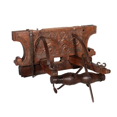 Well's Winch Walnut Iron and Varoius Wood Essence Italy 18th Century