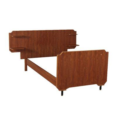 Single Bed Structure Mahogany Veneer Italy 1960s