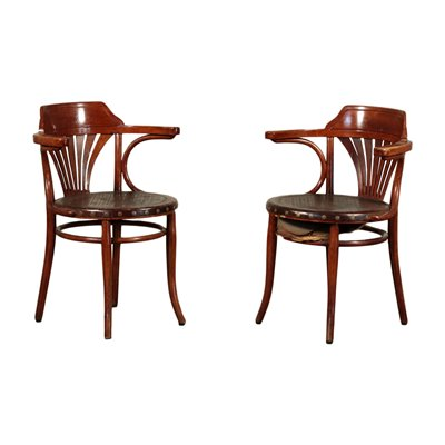 Pair of Thonet Chairs, Beech, Austria 20th Century