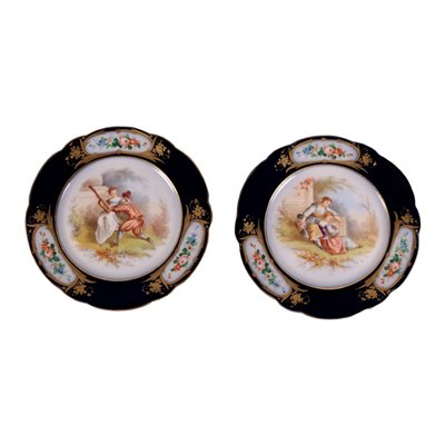 Pair of Sevres Plates, France 19th-20th Century