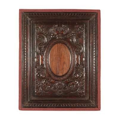 Baroque Wood Panel, Walnut, Italy 17th Century