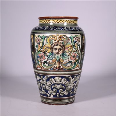Umbrella Stand,Vase,Ceramic, Lodi Manufature 19th-20th Century