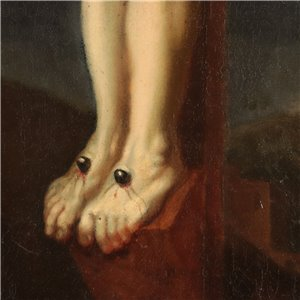 Attributed to Lieven Mehus Oil on Canvas 17th Century