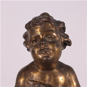 Pair of Gilded Bronze Putti taly 19th Century