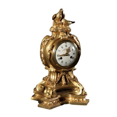 Henry Dasso Clock Gilded Bronze France 19th Century