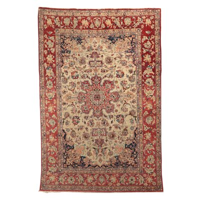 Isfahan Carpet Wool and Cotton Iran 1960s-1970s