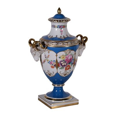 Porcelain Vase with Lid Germany 19th Century