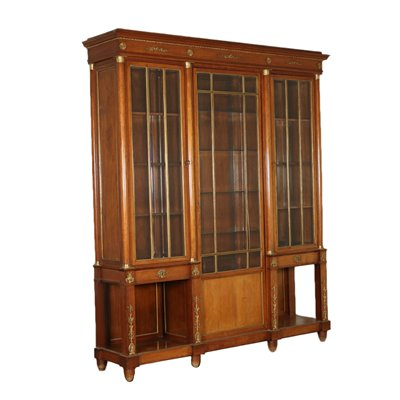Bookcase Empire Style Mahogany Italy 20th Century