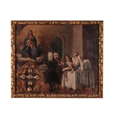 Miraculous Healing Oil On Canvas 18th Century
