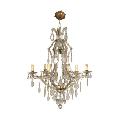 Maria Theresa Chandelier Glass Italy 20th Century
