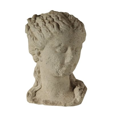 Female Figure Head Cement Paste Italy Early '900