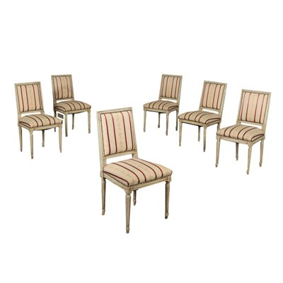 Group Of Six Chairs Neoclassical Italy 20th Century