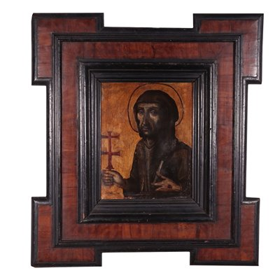 St. Francis Oil on Copper Spanish School 17th Century